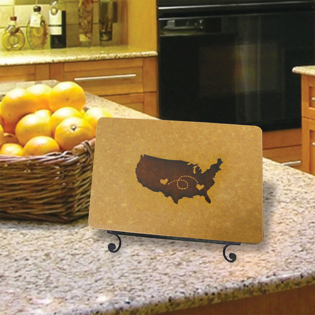 City Heart to Heart Engraved Cutting Board